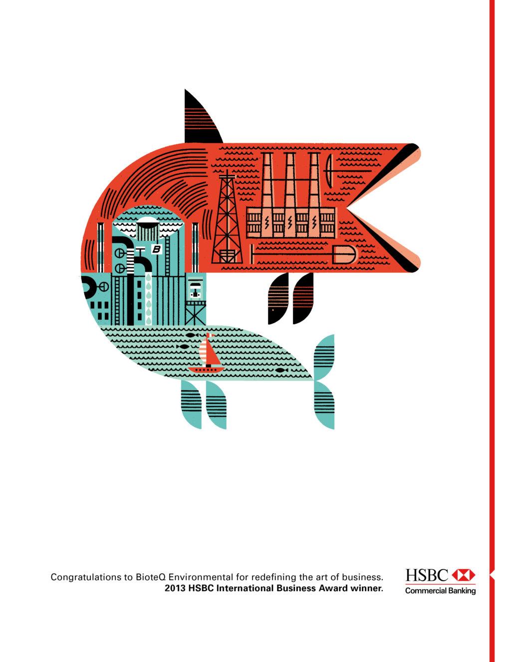 HSBC Business Awards illustrated Design Advertising